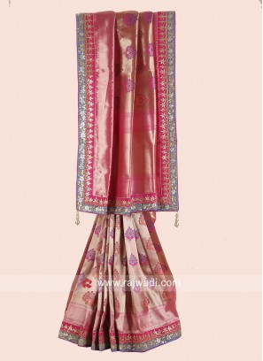 Designer Uppada Silk Saree with Border
