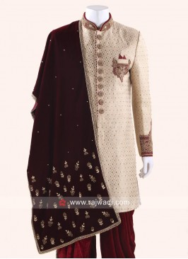 Designer Velvet Dupatta for Men