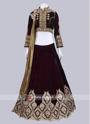 Designer Velvet Lehenga Choli