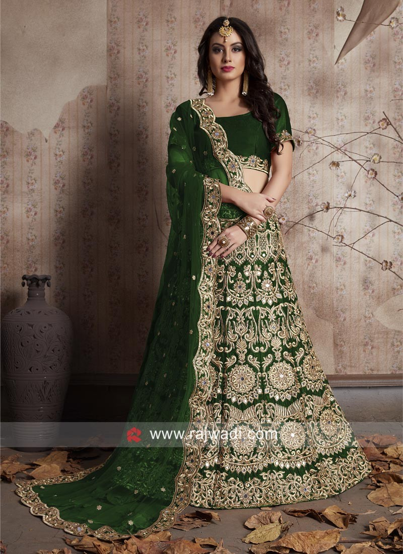 Designer Velvet Silk Lehenga with Cutwork Border