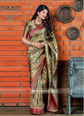 Designer Weaved Saree with Blouse