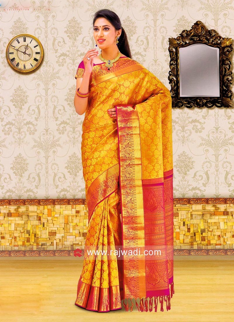 Designer Weaved Saree with Border