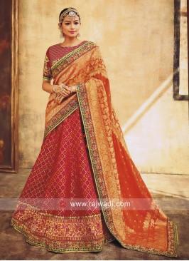Designer Weaving Lehenga Choli
