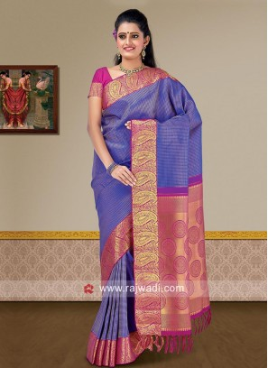 Designer Weaving Saree with Blouse
