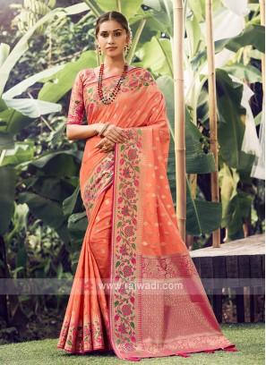 Designer Weaving Work Saree