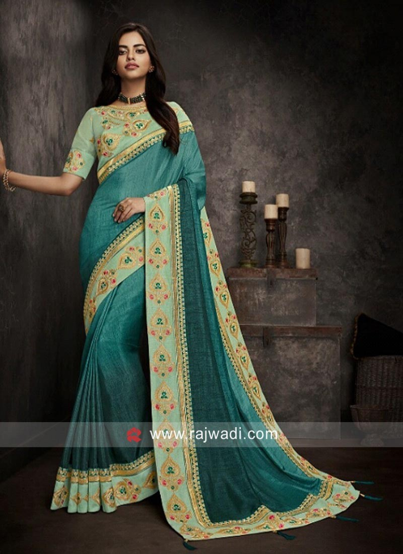 Designer Wedding Embroidered Saree
