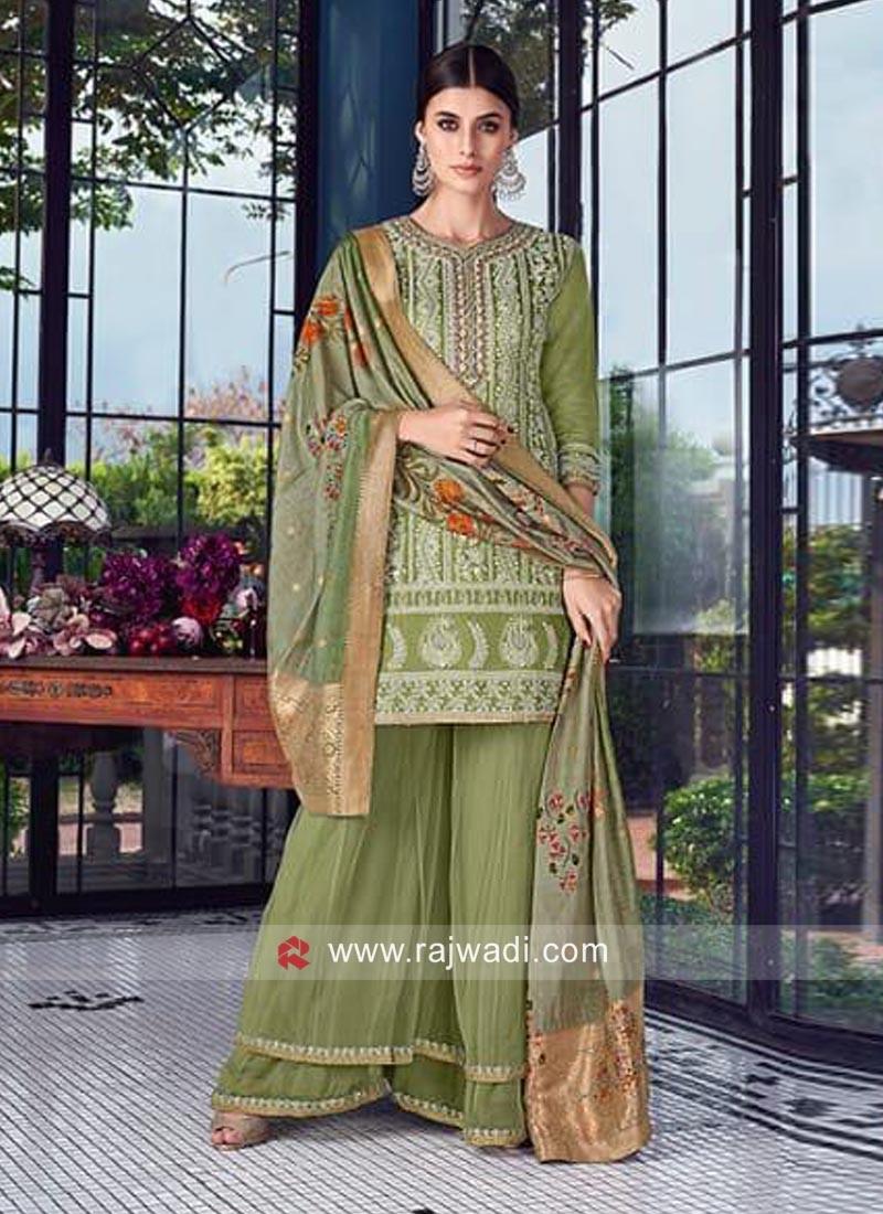 Designer Wedding Gharara Salwar Kameez