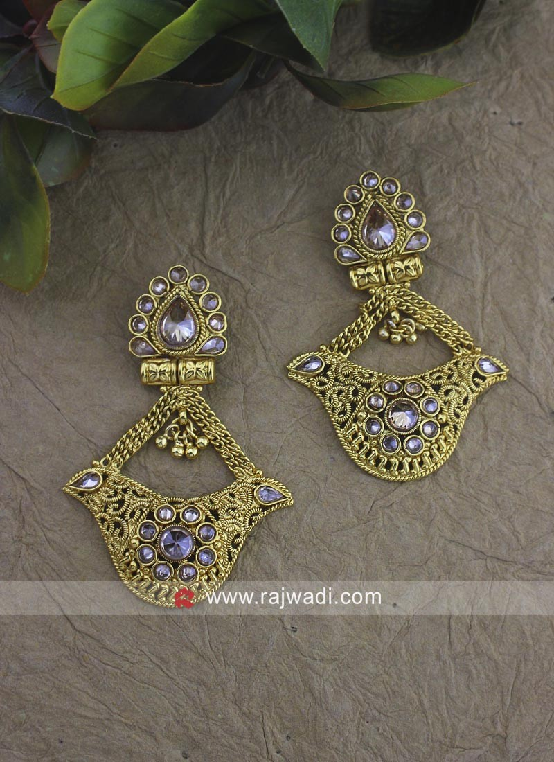 Designer Wedding Golden Earrings