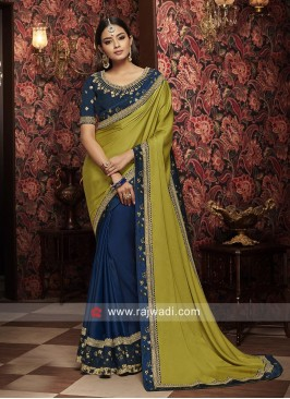 Designer Wedding Half n Half Saree