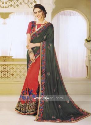 Designer Wedding Half Saree