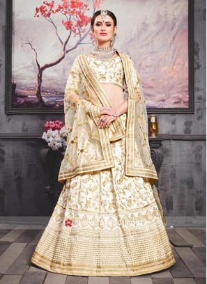 Designer Wedding Lehenga in Off White