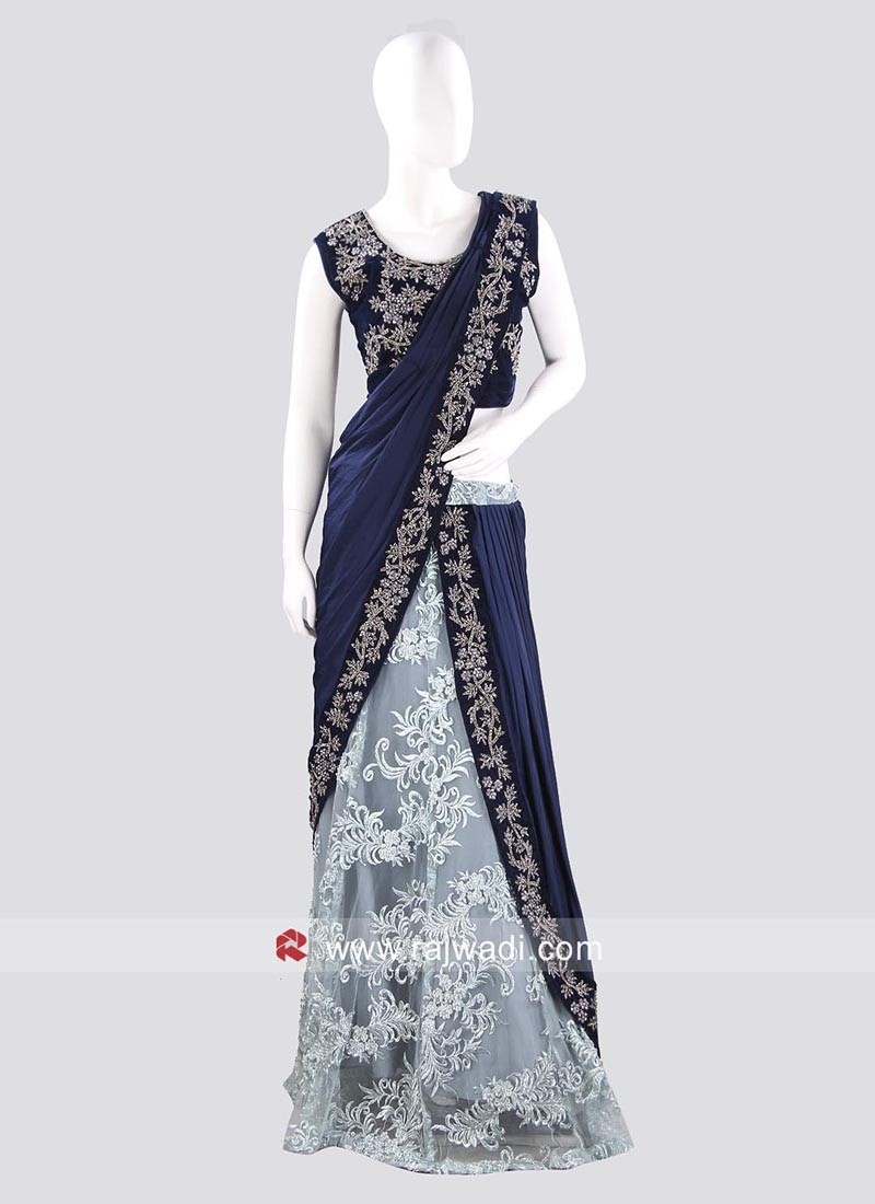 Designer Wedding Lehenga Saree