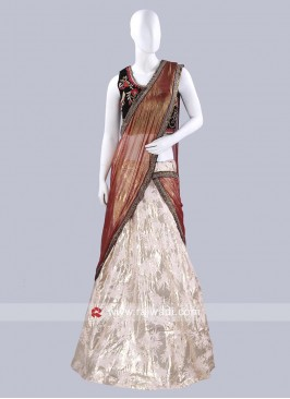 Designer Wedding Lehenga Saree