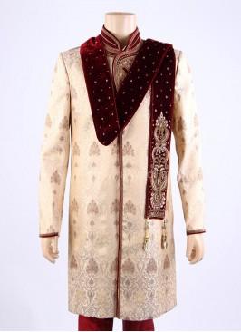 Designer Wedding Maroon Dupatta