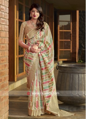 Designer Wedding Saree with Blouse