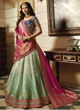 Designer Wedding Shaded Lehenga with Dupatta