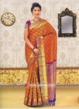 Designer Wedding Silk Saree with Blouse