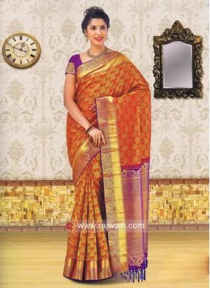Designer Wedding Silk Saree with Blouse