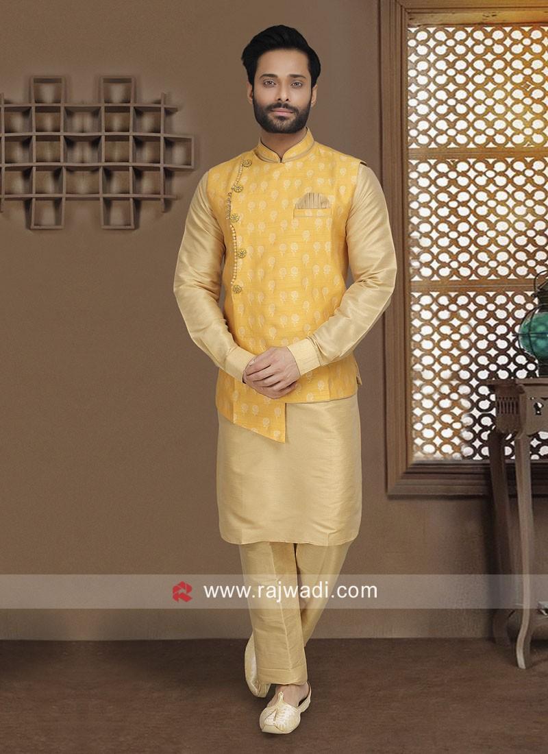 Designer Wedding Wear Nehru Jacket