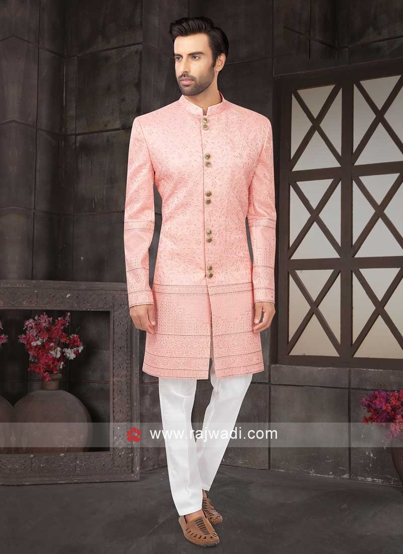 Designer Wedding Wear Pink Indo-Western