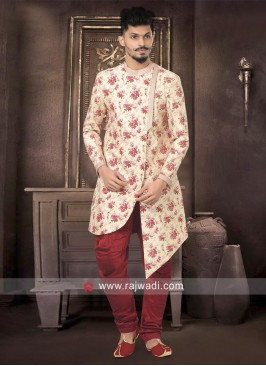 Designer White Indo Western