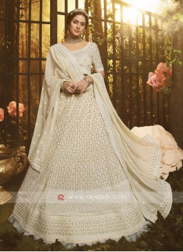 Designer White Lehenga Choli