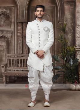 Designer White Sherwani suit