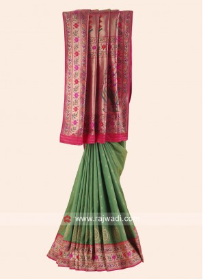 Designer Woven Saree with Blouse