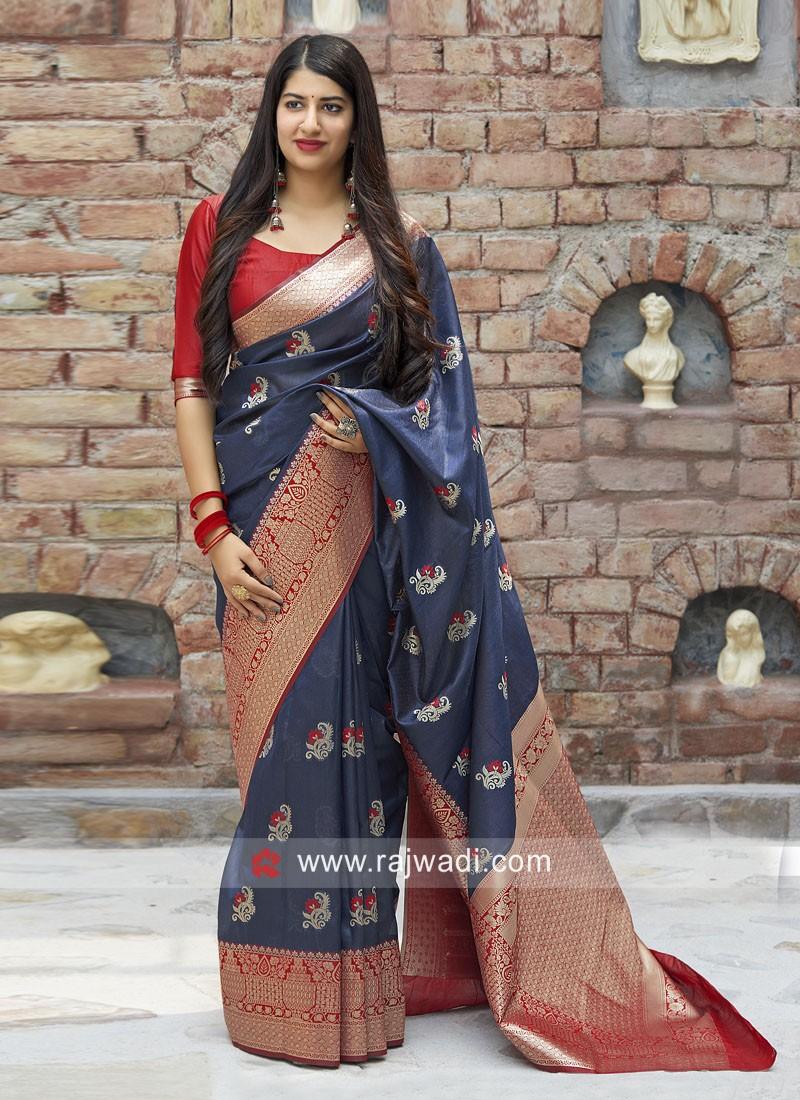 Designer Woven Saree with Border