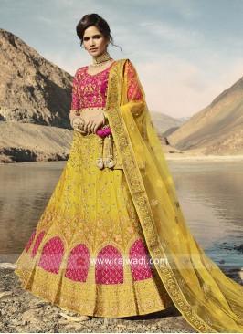 Designer Yellow Lehenga Choli with Dupatta
