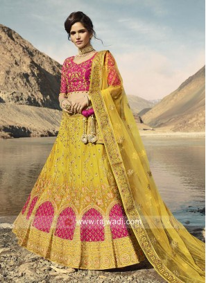 Designer Yellow Lehenga Choli with Dupatta