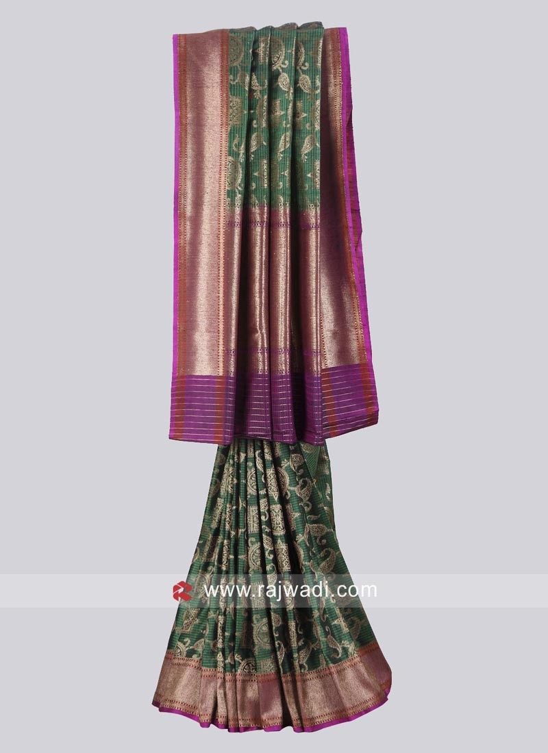 Designer Zari Work Saree