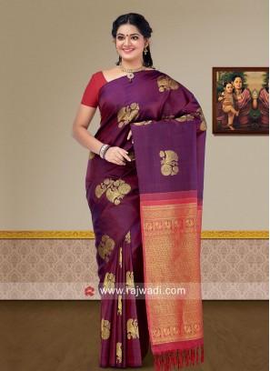 Designer Zari Woven Pure Silk Saree