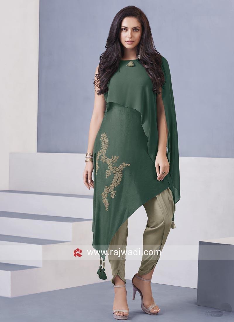 Dhoti Style Indo Western Salwar Kameez