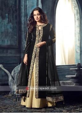 Dia Mirza Abaya Style Black Palazzo Suit