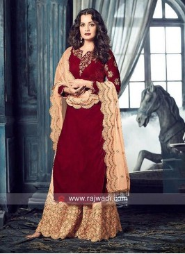 Dia Mirza Embroidered Palazzo Suit
