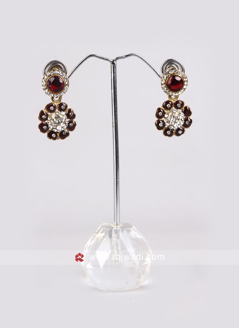Diamond and Stone Earrings