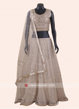 Diamond and Kundan work Lehenga Set