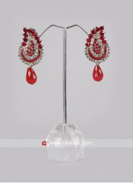 Diamond and Stone Drop Earrings