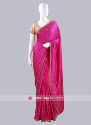 Diamond and Stone Work Choli Saree