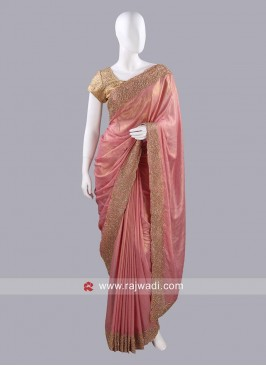 Diamond Work Designer Sari with Blouse