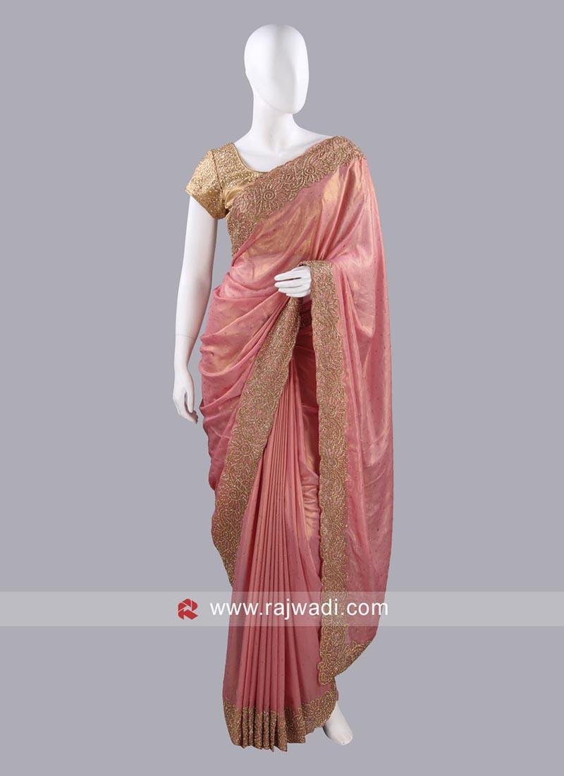 Diamond Work Designer Sari with Blouse