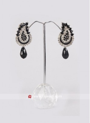 Diamond Work Drop Earrings