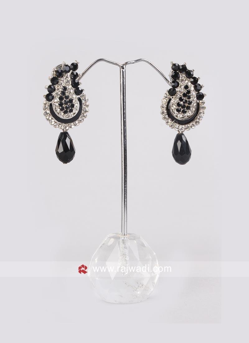 Diamond Work Drop Earrings