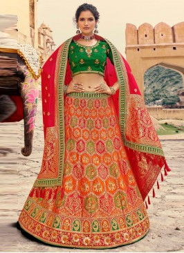 Distinguishable Embroidered Silk Lehenga Choli