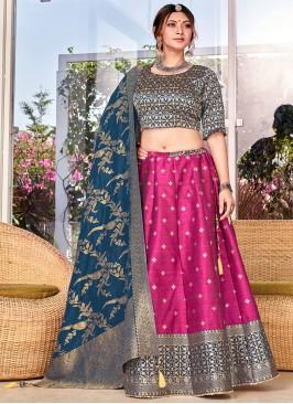 Distinguishable Weaving Silk Trendy Lehenga Choli
