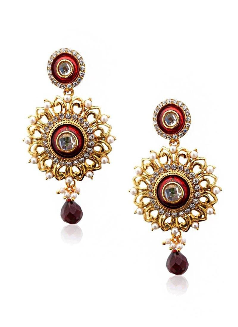 Divine Circlets Scarlet Drop Earring