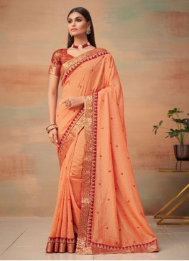 Divine Woven Peach Designer Traditional Saree