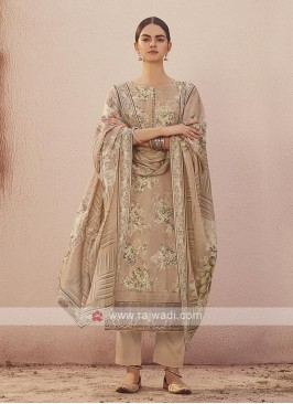 Dola silk suit in misty rose color