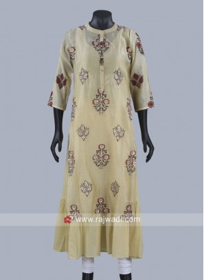 Double Layer Cotton Printed Kurti